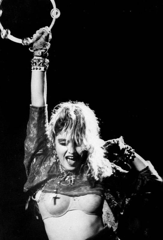 Madonna - Singer Art Print featuring the photograph Madonna Concert Performs At Madison by New York Daily News Archive