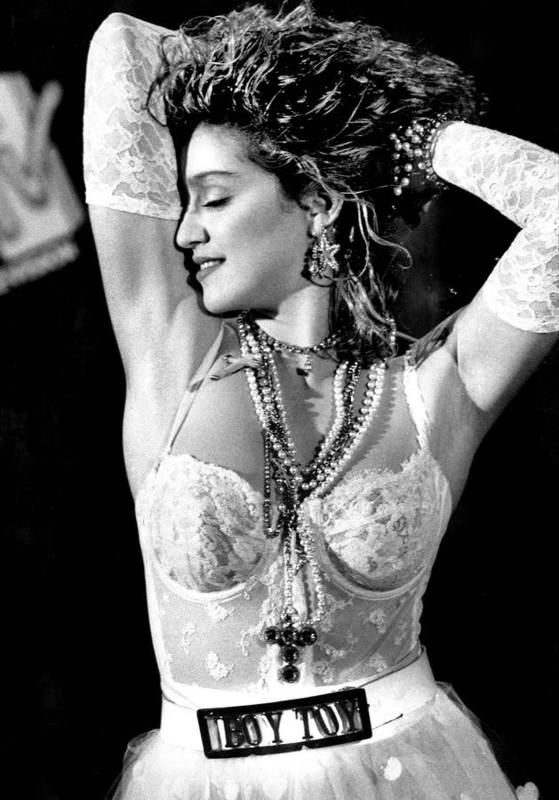 Madonna - Singer Art Print featuring the photograph Madonna During A Performance At Mtv by New York Daily News Archive