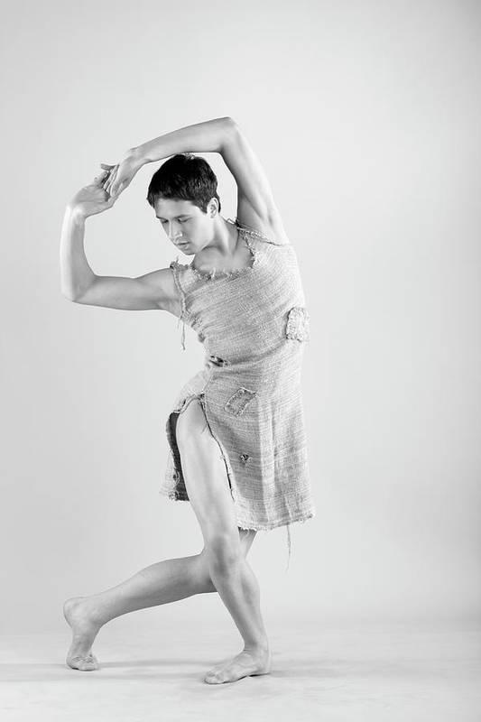 Ballet Dancer Art Print featuring the photograph Man Dance by Oleg66