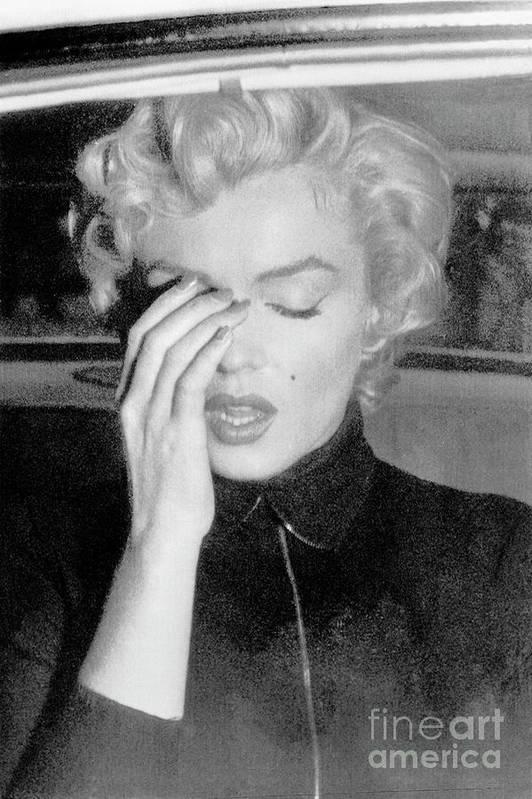 Marilyn Monroe Art Print featuring the photograph Marilyn Monroe Crying by Bettmann
