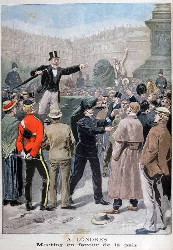 Engraving Art Print featuring the drawing Meeting In Favour Of Peace, London by Print Collector