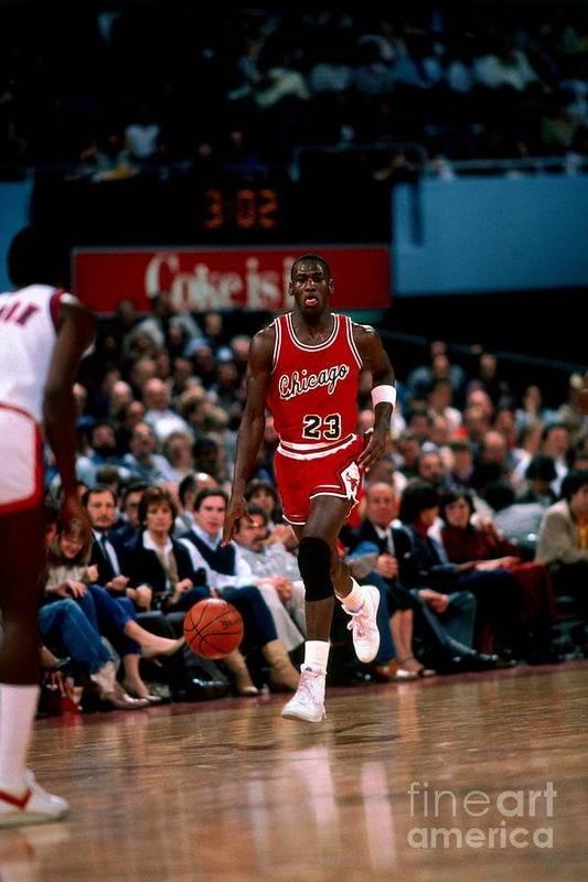 Chicago Bulls Art Print featuring the photograph Michael Jordan by Peter Read Miller