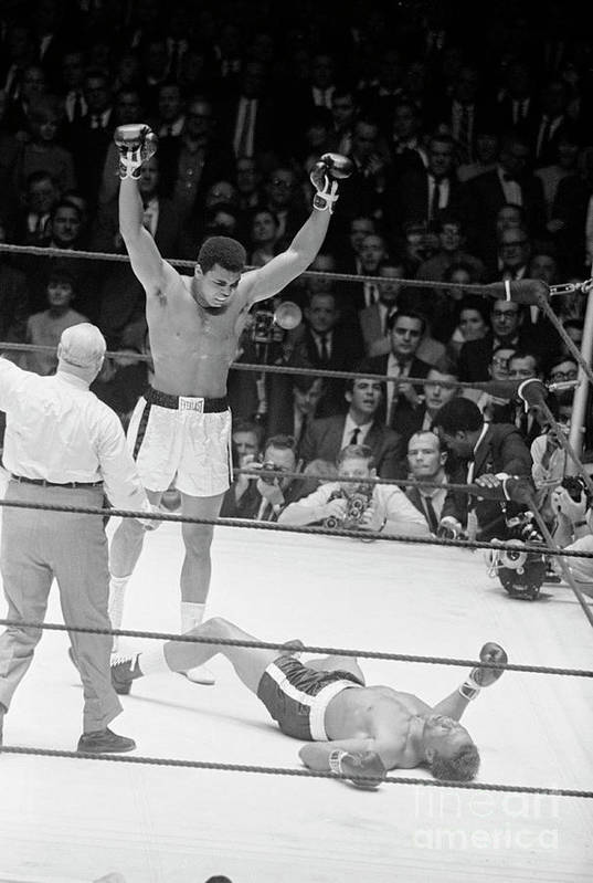 Human Arm Art Print featuring the photograph Muhammad Ali Knocks Out Cleveland by Bettmann