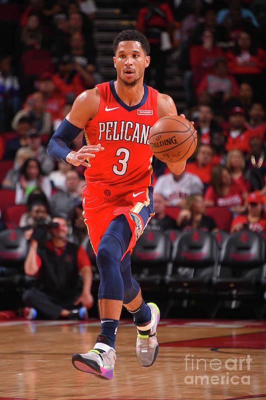 Nba Pro Basketball Art Print featuring the photograph New Orleans Pelicans V Houston Rockets by Bill Baptist