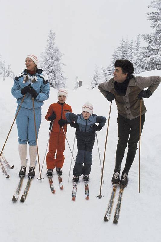 Enjoyment Art Print featuring the photograph Norway, Danish Royal Family Skiing by Keystone-france