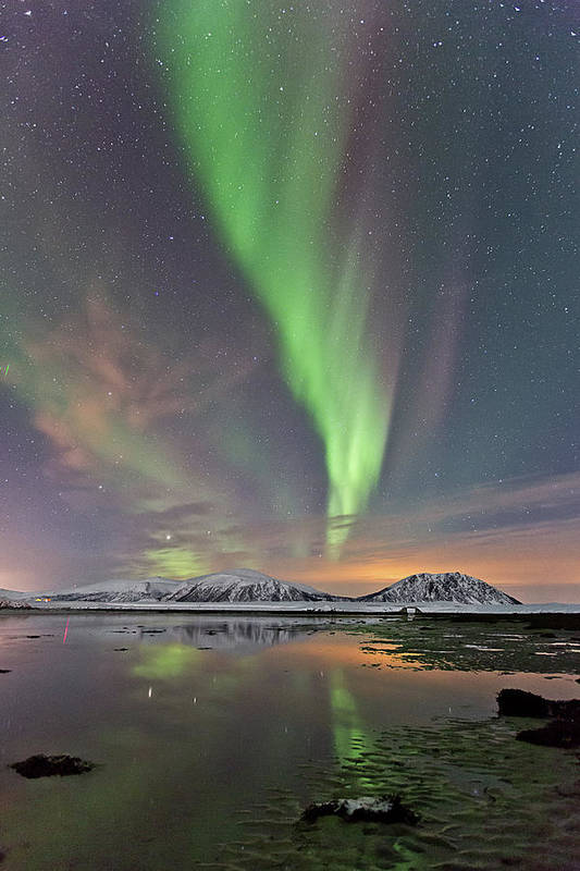 Scenics Art Print featuring the photograph Norway Sky by By Frank Olsen, Norway