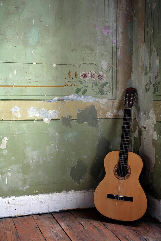 Music Art Print featuring the photograph Old Guitar by Kursad