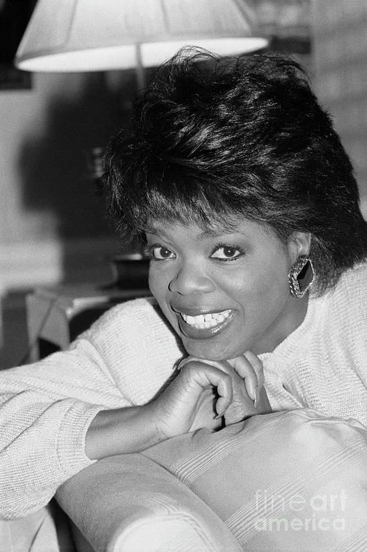 1980-1989 Art Print featuring the photograph Oprah Winfrey, 1986 by Bettmann