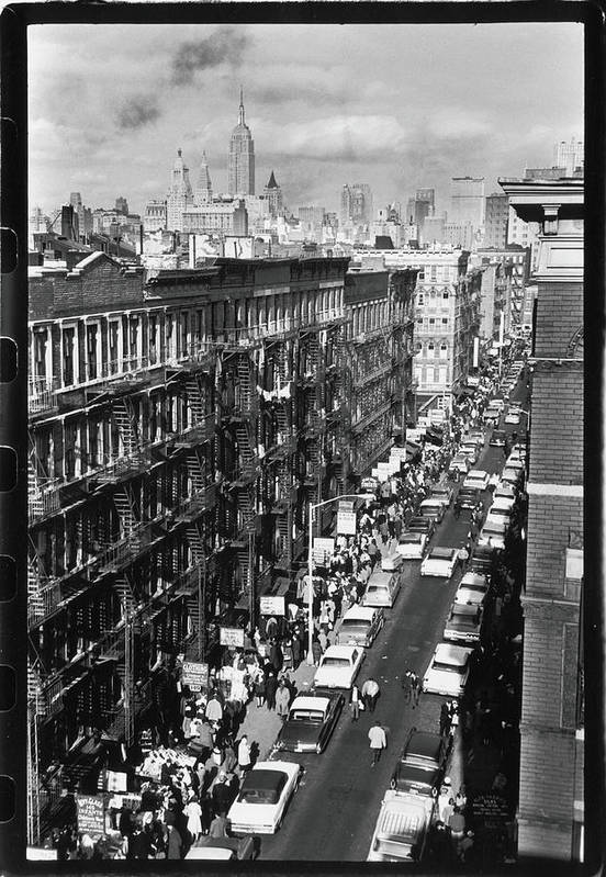 East Art Print featuring the photograph Orchard Street, 1963 by Fred W. McDarrah
