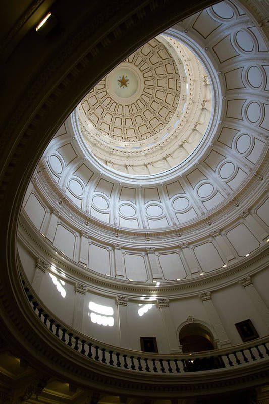 Democracy Art Print featuring the photograph Ornate Round Dome Of The Capital by Wpcg