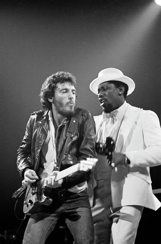 Music Art Print featuring the photograph Photo Of Bruce Springsteen And Clarence by Fin Costello