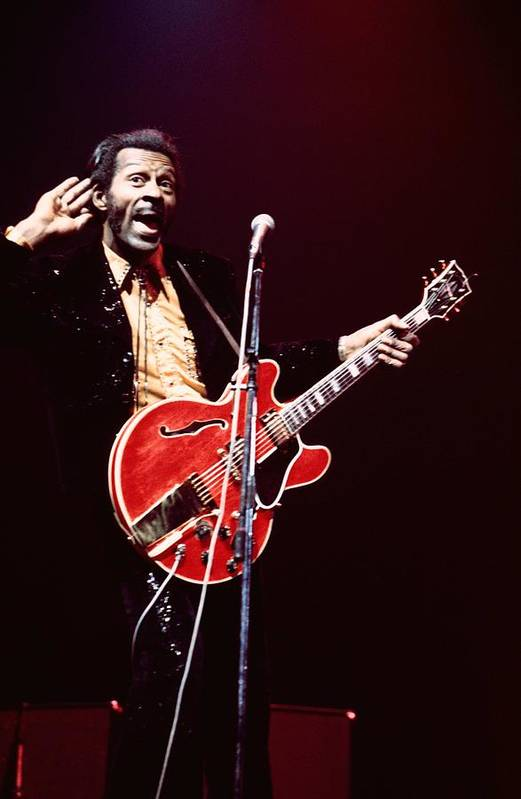 Chuck Berry - Musician Art Print featuring the photograph Photo Of Chuck Berry by Andrew Putler