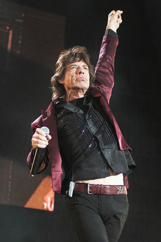 Mick Jagger Art Print featuring the photograph Photo Of Mick Jagger And Rolling Stones by Neil Lupin
