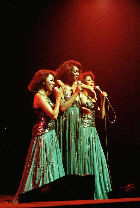 Mary Wilson Art Print featuring the photograph Photo Of Supremes And Susaye Greene And by Keith Bernstein