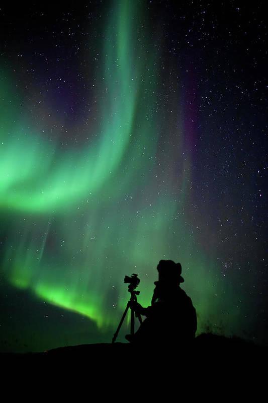 Scenics Art Print featuring the photograph Photographer Catching Beautiful Light by Lars Mathisen Photography