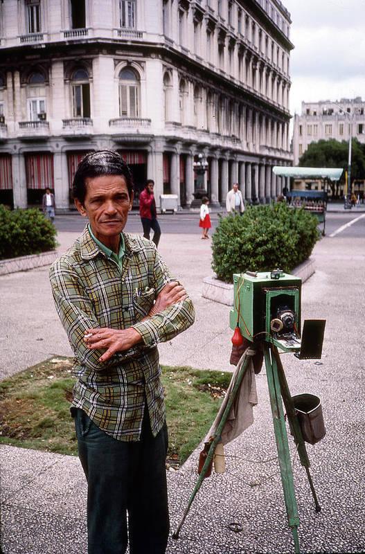 1980-1989 Art Print featuring the photograph Photographer Near Plaza De La Revolucion by Fred W. McDarrah
