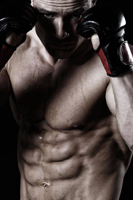 Toughness Art Print featuring the photograph Powerful Fighter by Vuk8691