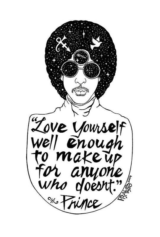 Pen And Ink Illustration Art Print featuring the drawing Prince Drawing by Rick Frausto