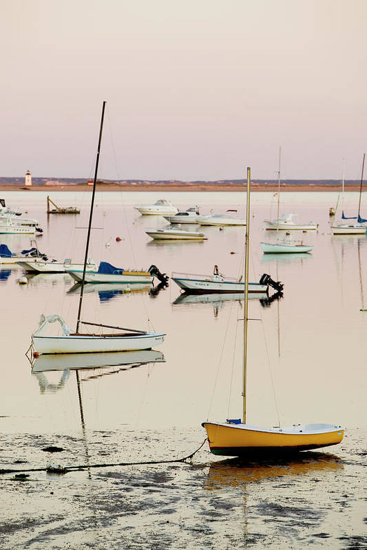 Sailboat Art Print featuring the photograph Provincetown Harbor by Walter Bibikow