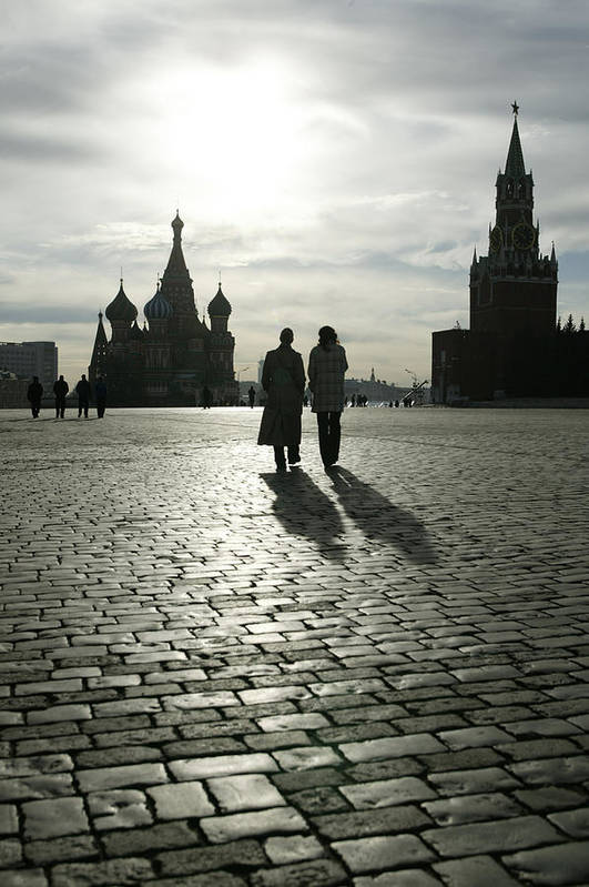 Shadow Art Print featuring the photograph Russia, Moscow, Red Square, Silhouette by Will & Deni Mcintyre
