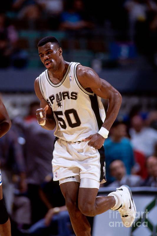 Nba Pro Basketball Art Print featuring the photograph San Antonio Spurs David Robinson by Andy Hayt