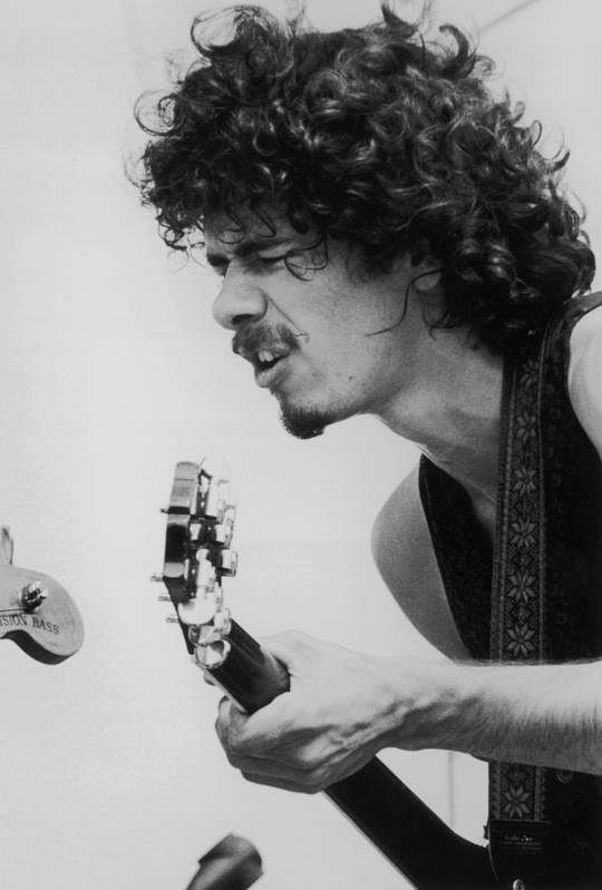 People Art Print featuring the photograph Santana At Woodstock by Hulton Archive