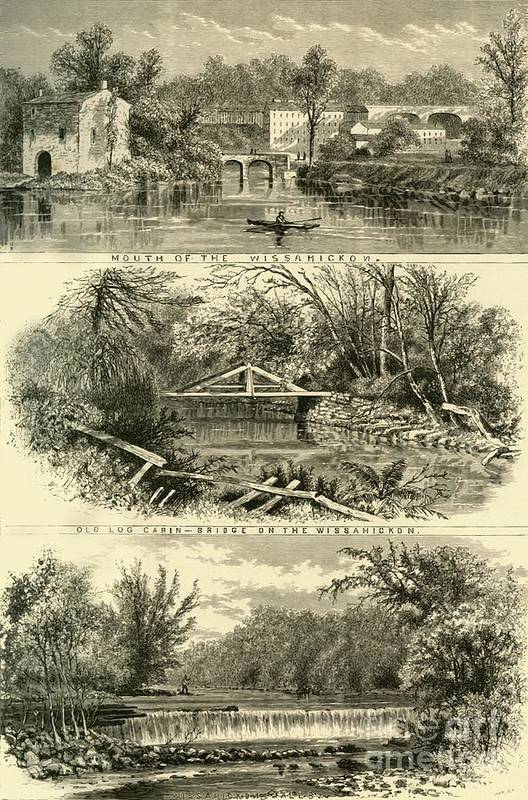 Engraving Art Print featuring the drawing Scenes On The Wissahickon by Print Collector