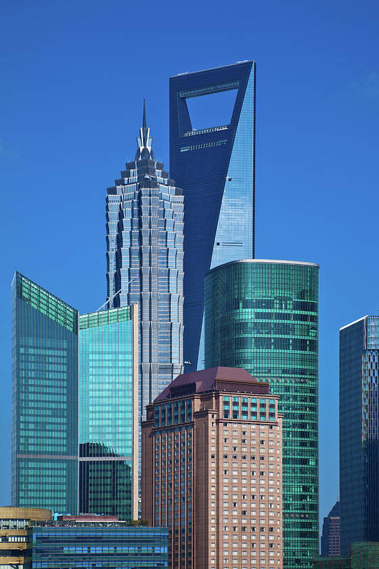 Chinese Culture Art Print featuring the photograph Shanghai Landmark Building by Ithinksky