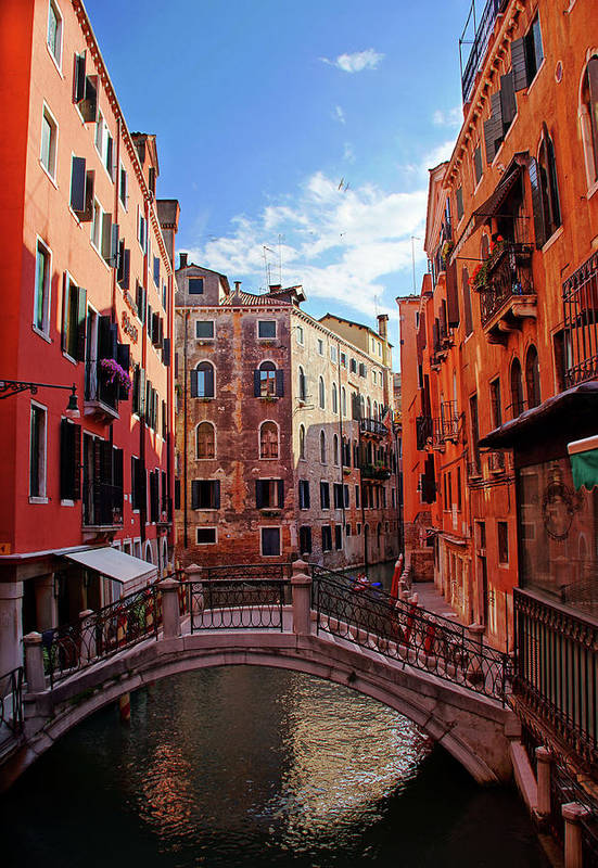 Arch Art Print featuring the photograph Small Canals In Venice Italy by Totororo