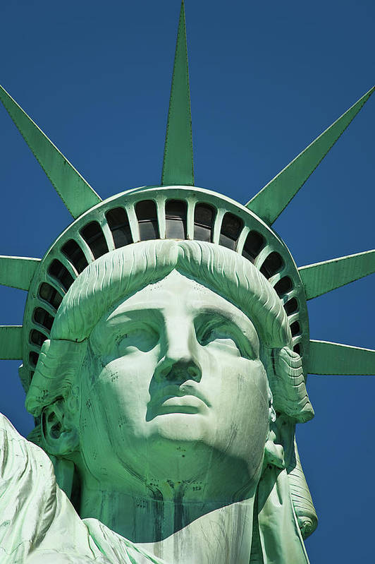 Crown Art Print featuring the photograph Statue Of Liberty by Tetra Images
