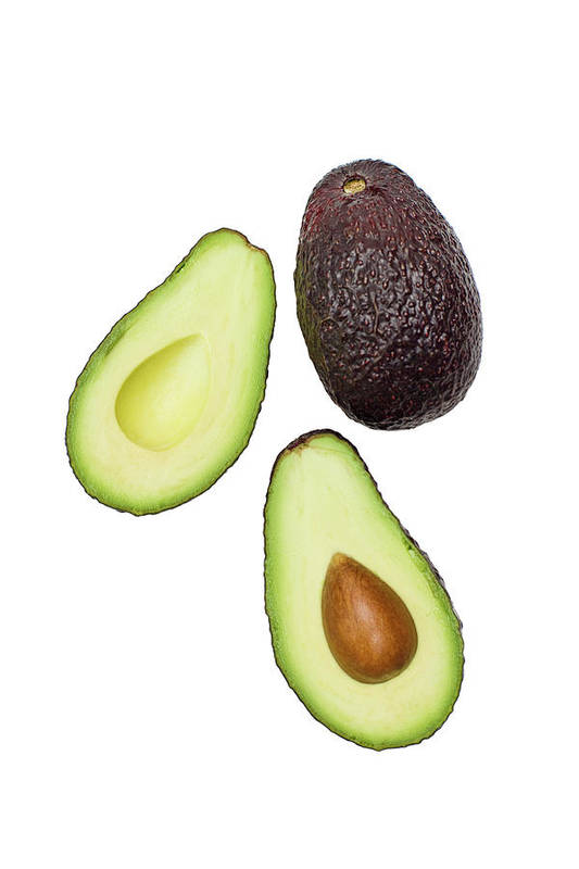 White Background Art Print featuring the photograph Studio Shot Of Avocado by Johner Images