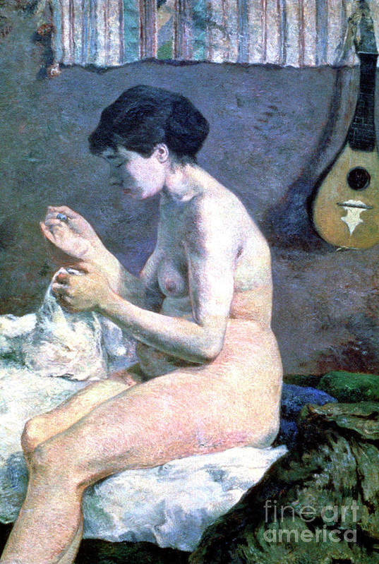 Paul Gauguin Art Print featuring the drawing Study Of A Nude, 1880. Artist Paul by Print Collector