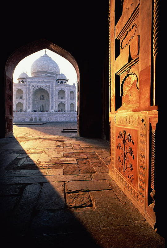 Arch Art Print featuring the photograph Taj Mahal, Agra India by Andrea Pistolesi