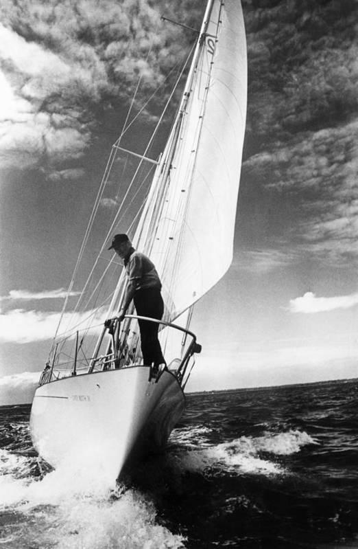 Wind Art Print featuring the photograph Test Sail by David Ashdown