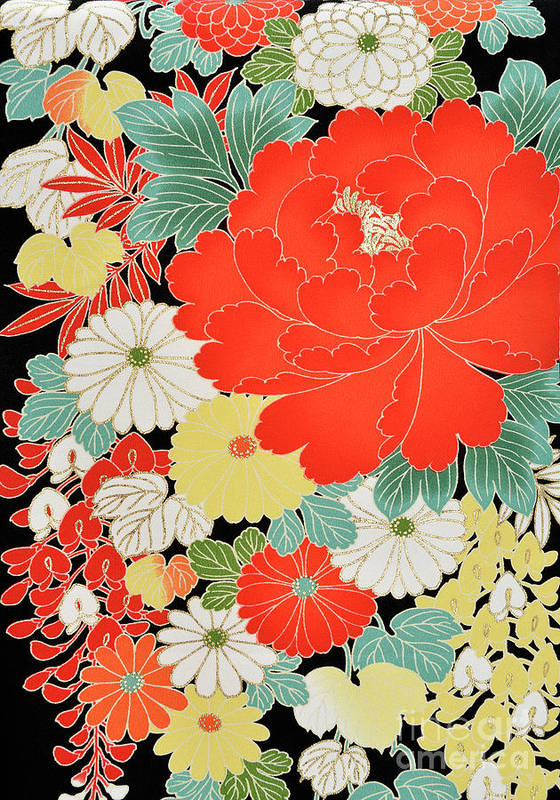 Art Art Print featuring the photograph The Japanese Kimono, Close by Yagi Studio