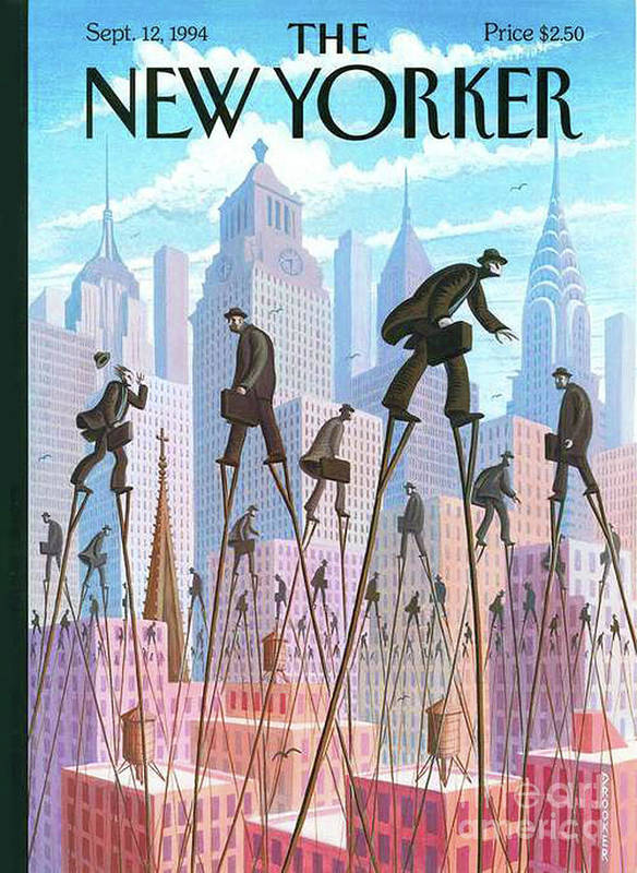 The New Yorker Art Print featuring the painting The New Yorker - September 12, 1994 by Prar Kulasekara