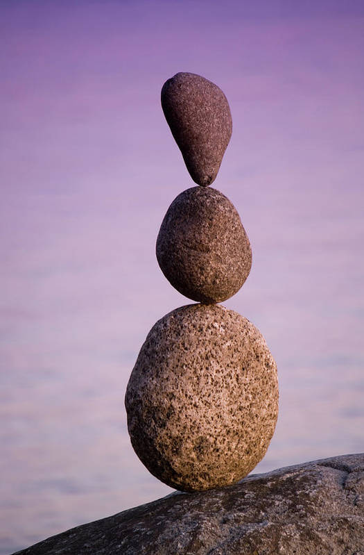 Three Stacked Rocks Art Print By Ross Durant Photography