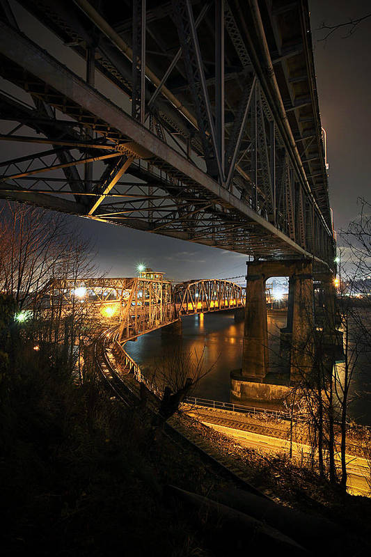 Built Structure Art Print featuring the photograph Underbelly by Kevin Van Der Leek Photography