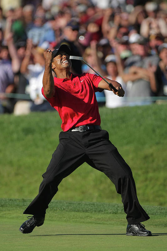 Tiger Woods Art Print featuring the photograph U.s. Open Championship - Final Round by Doug Pensinger
