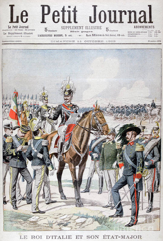 Horse Art Print featuring the drawing Victor Emmanuel IIi, King Of Italy by Print Collector