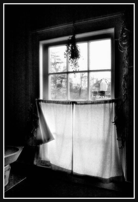 A Kitchen Window Art Print featuring the photograph Window Lighting #2 by Harold Silverman - Buildings & Cityscapes