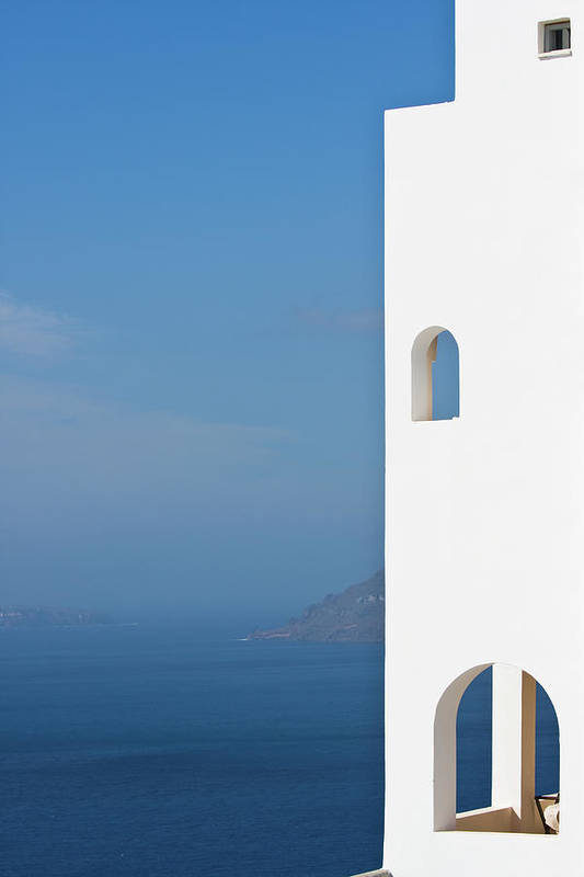Greece Art Print featuring the photograph Windows To The Blue by Arturbo