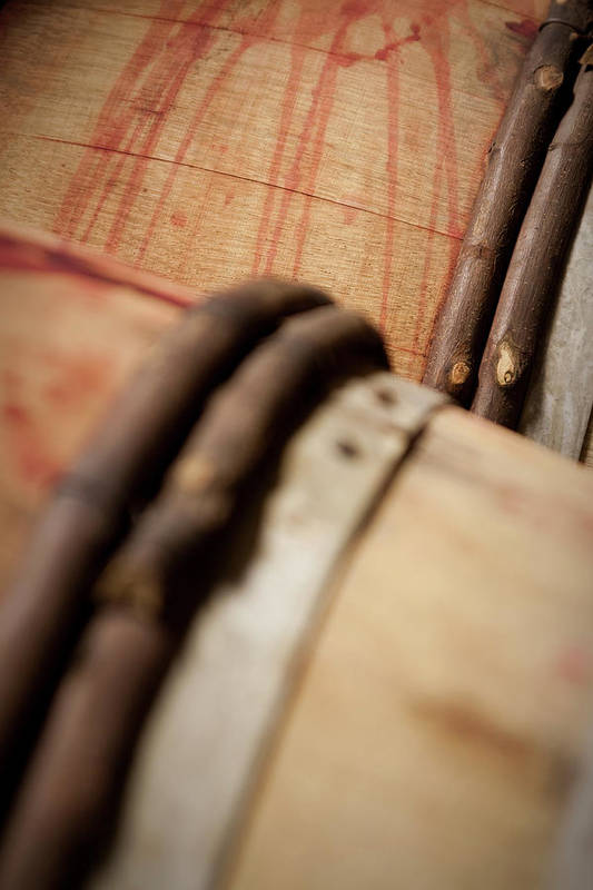 Fermenting Art Print featuring the photograph Wine Barrels by Chrispecoraro