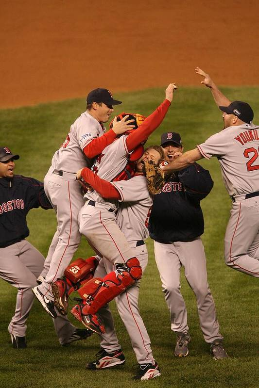 Celebration Art Print featuring the photograph World Series Boston Red Sox V Colorado by Ron Vesely