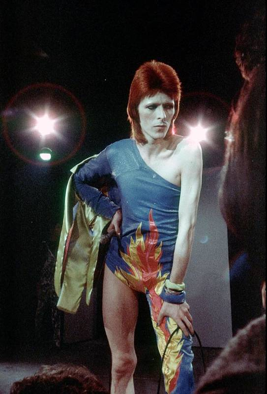 Ziggy Stardust - Persona Art Print featuring the photograph Ziggy Stardust Era Bowie by Michael Ochs Archives