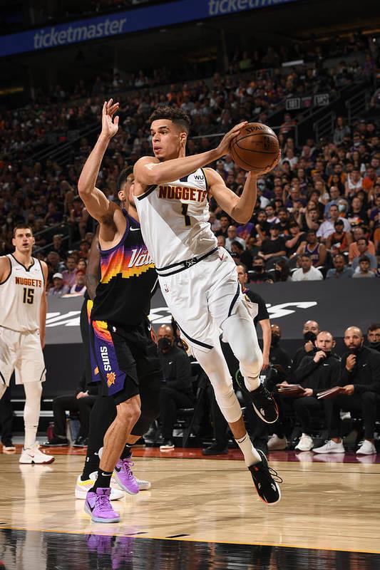 Playoffs Art Print featuring the photograph 2021 NBA Playoffs - Denver Nuggets v Phoenix Suns by Garrett Ellwood
