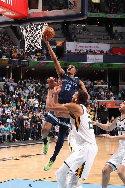 Playoffs Art Print featuring the photograph 2021 NBA Playoffs - Utah Jazz v Memphis Grizzlies by Joe Murphy