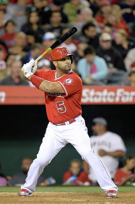 American League Baseball Art Print featuring the photograph Albert Pujols by Harry How