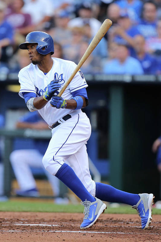 Second Inning Art Print featuring the photograph Alcides Escobar by Ed Zurga