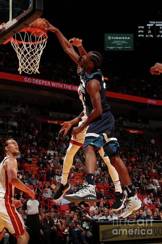 Nba Pro Basketball Art Print featuring the photograph Andrew Wiggins by Issac Baldizon